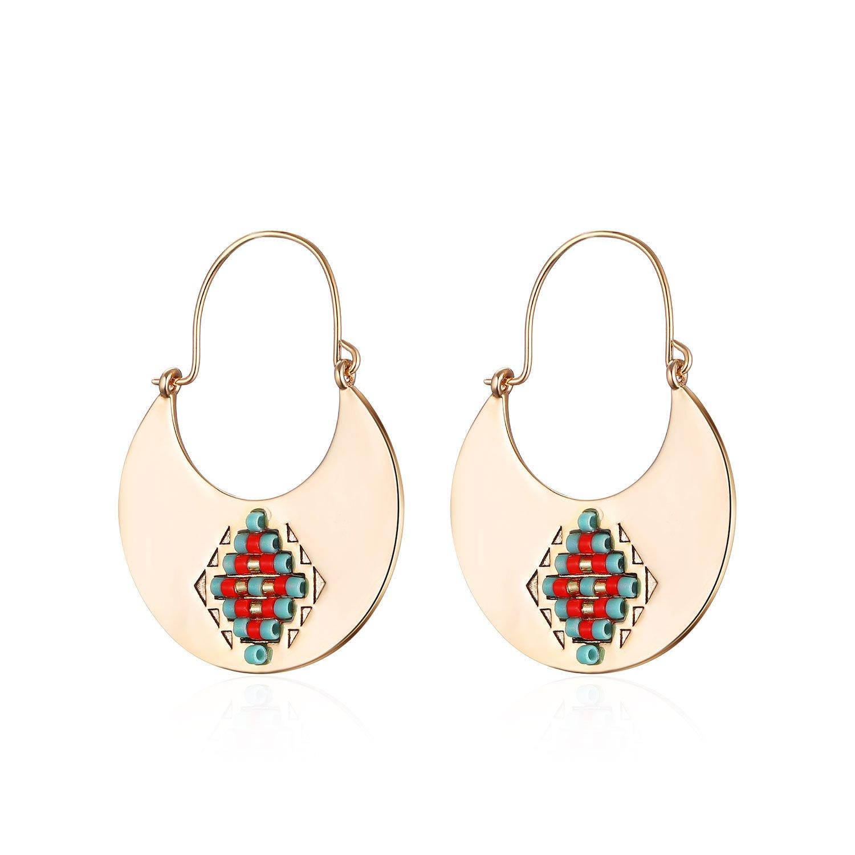Handmade Beads Earrings Boho Ethnic Style Earrings for Women Girl