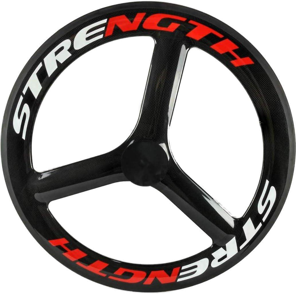 carbon tri spoke wheel rear wheel 65mm depth road track bike 700C 3 spoke