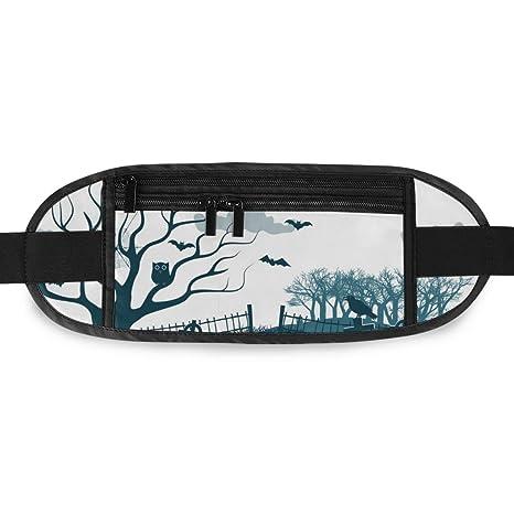 Travel Waist Pack,travel Pocket With Adjustable Belt Halloween Running Lumbar Pack For Travel Outdoor Sports Walking