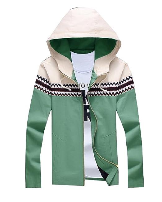 Amazon Com Sportsx Men Contemporary Zip Front Color Matching Hoodie