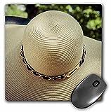 3dRose Alexis Photography - Objects - Elegant female straw hat. Summer style. Stylized photo - MousePad (mp_270820_1)