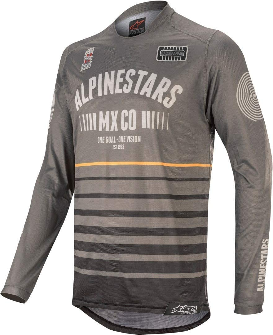 Flagship Alpinestars 2020 Racer Tech Jersey Black//Bordeaux//Orange Small