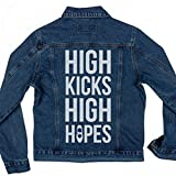 High Kicks Dance Denim Jacket: Ladies Denim Jean Jacket