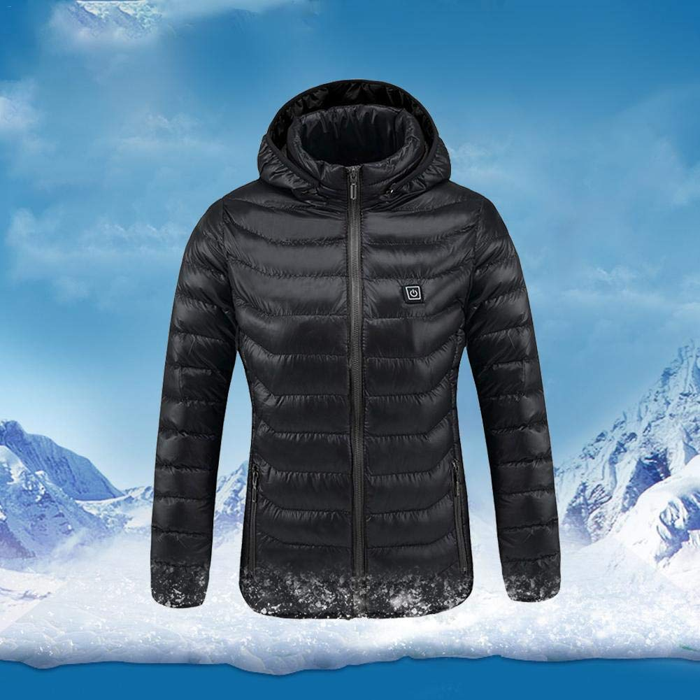 Amazon.com: Bulary Outdoor Graphene - Chaqueta de plumón con ...