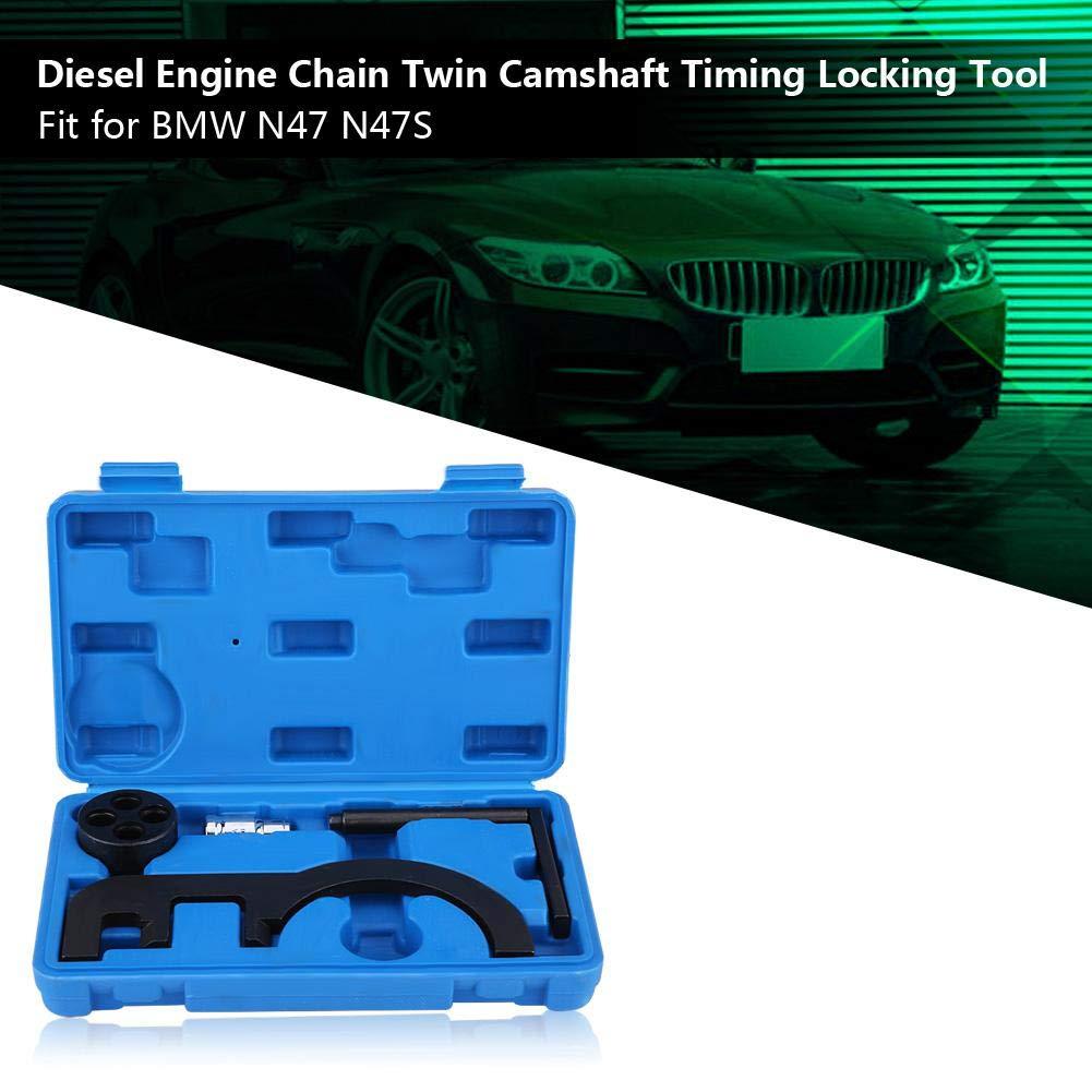 Terisass 4 St/ücke Dieselmotor Kette Twin Nockenwelle Spannen Verriegelung Stahl Tragbar Ausrichtung Zahnriemensatz f/ür 1 3 5 Serie E81 E82 E87 118D 120D E90 E91 E92 318D E60 E61 530D X3 E47 2.047 N47S