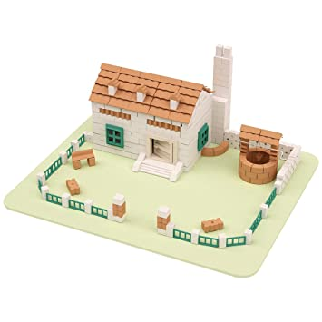 Model Building Set Kit Build Your Own Model Farm House Bricks U0026 Mortar  Construction Kit Set