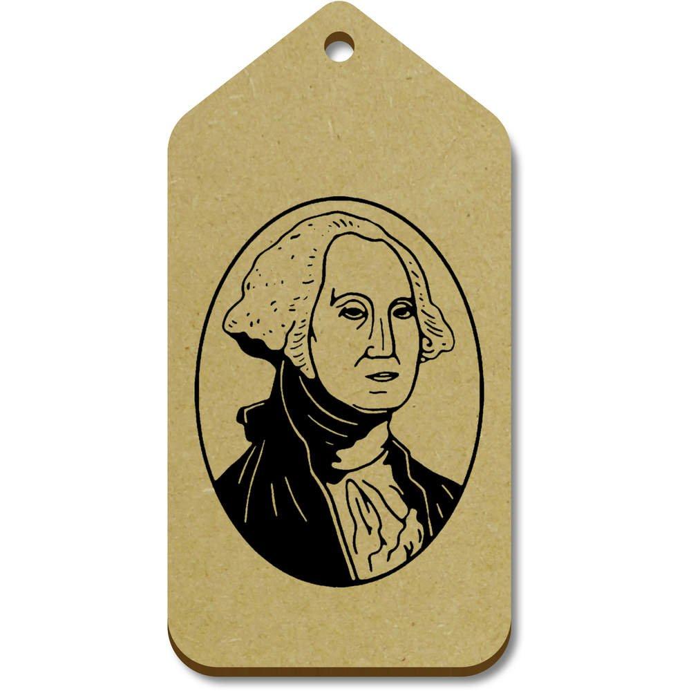 Azeeda 10 x Grand 'George Washington' etiquettes de Bagage / Cadeau en Bois (TG00070336)