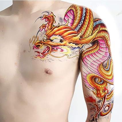 Etiqueta engomada temporal grande grande del tatuaje de la parte ...