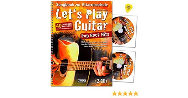 Lets Play Guitar Pop Rock Hits - Libro de canciones para guitarra ...