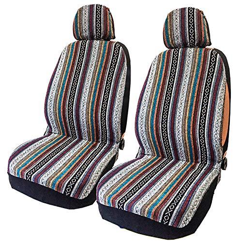 szlsl88 4-delige set autostoelbeschermers, autovoorstoelhoes, universele vooremmer-beschermhoezen, kleurrijke slijtvaste…
