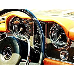 LAMINATED 32x24 Poster: Old Past Antique Nostalgia Auto Pkw Car Oldtimer Oldi Rarity Museum Fittings Dashboard Steering Wheel Ad Clock Switch Speedo Mercedes Benz Mercedes Benz Daimler