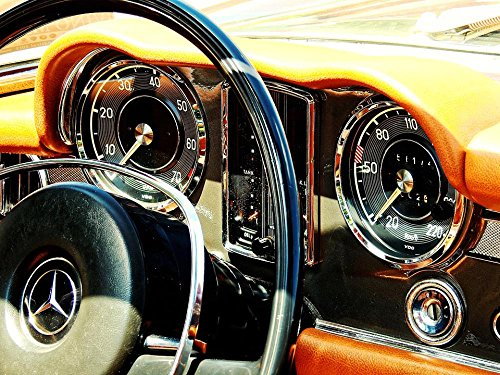 - LAMINATED 32x24 Poster: Old Past Antique Nostalgia Auto Pkw Car Oldtimer Oldi Rarity Museum Fittings Dashboard Steering Wheel Ad Clock Switch Speedo Mercedes Benz Mercedes Benz Daimler