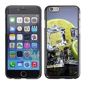 PC/Aluminum Funda Carcasa protectora para Apple Iphone 6 Ice Cubes Lemon Lime Citrus Fruit Healthy / JUSTGO PHONE PROTECTOR