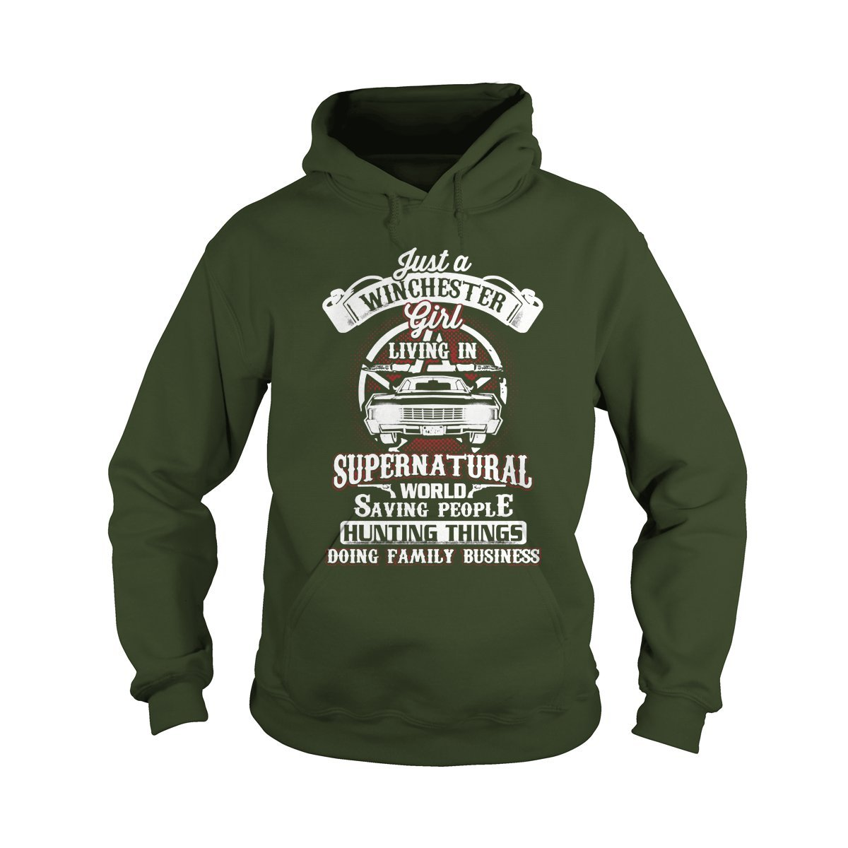 Hoodie Forest Large ShinyKT Just A Winchester Girl TShirt
