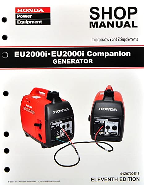 amazon com honda eu2000 eu2000i generator service repair shop rh amazon com honda generator eu2000i owners manual honda generator parts eu2000i