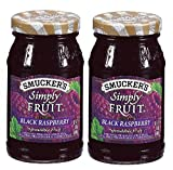 Smucker's Seedless Black Raspberry Simply Fruit Spread (2 Pack) 10 oz Jars