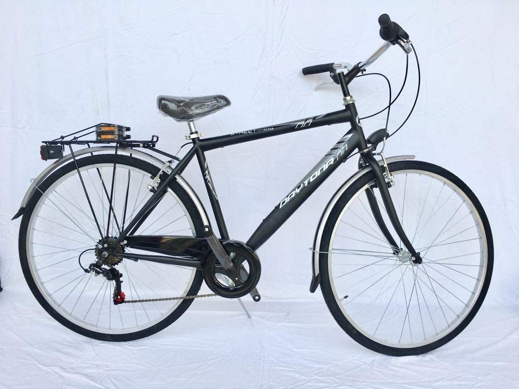 DAYTONA Bici 28 Trekking Hombre Negro Mate Shimano 6V.: Amazon.es ...