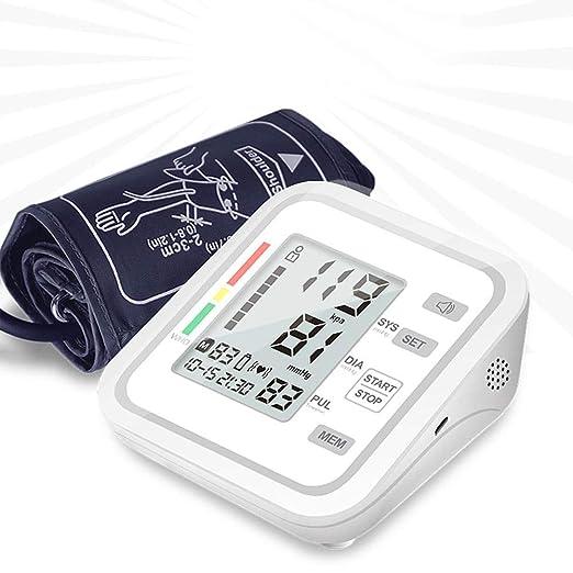 Tensiómetro de brazo digital validado clínicamente Lectura en Inglés Detección de Pulso Arrítmico se Apaga Automáticamente 99 Conjuntos de Memoria de ...