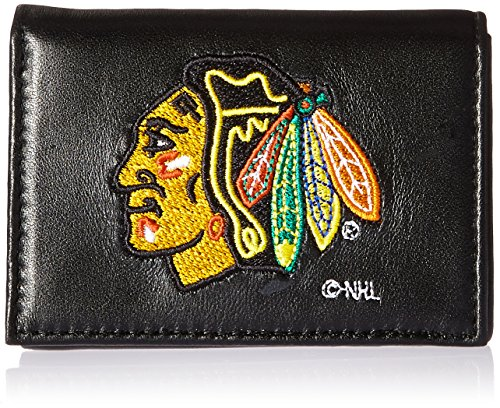 - Rico Industries NHL Chicago Blackhawks Embroidered Genuine Leather Trifold Wallet