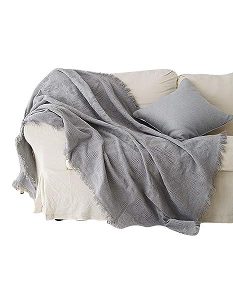 besbomig Manta para sofá, Funda de sofá Protector Reversible ...