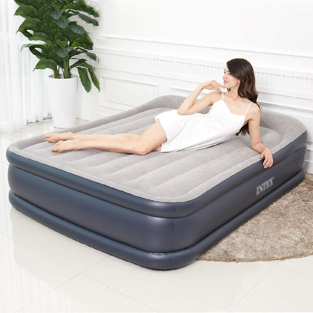 Full Size Inflatable Airbed Camping Firm Mattress High Air Bed Sleeping Folding