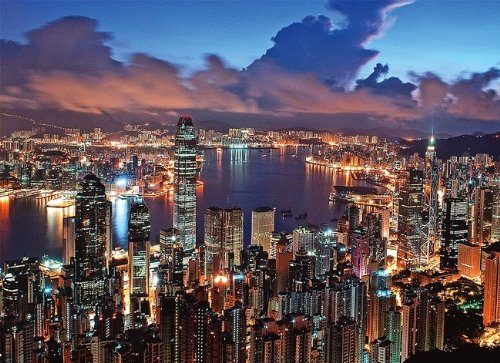 Tomax Hong Kong Night Scene 500 Piece Glow-in-the-dark Jigsaw Puzzle ()