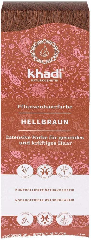 Khadi - Tinte para plantas castaño claro, cobre, 100 g