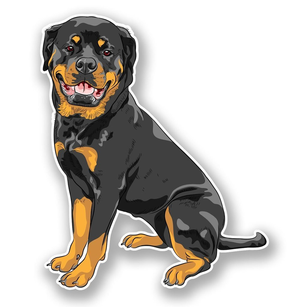 Amazon com 2 x 30cm 300mm rottweiler dog window cling sticker car van campervan glass 5982