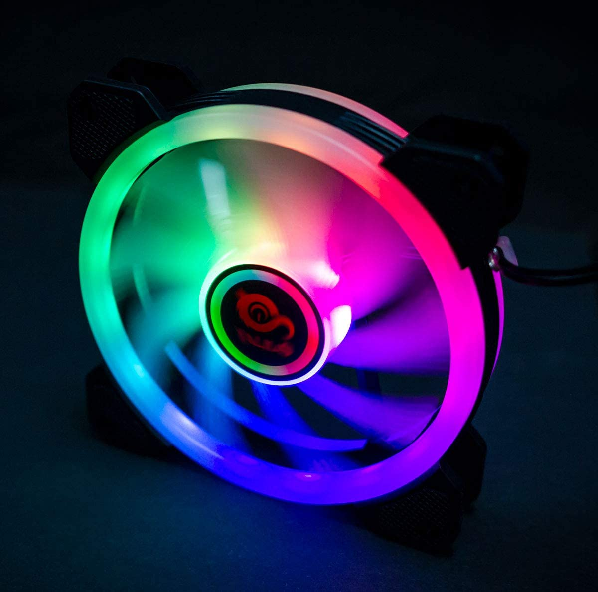 Talius Rgb Fan Rainbow 12cm Computers Accessories