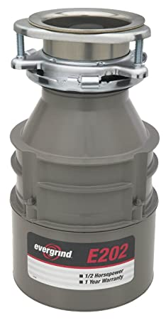 Emerson Evergrind E202 Food Waster Disposer, 1 2 Horsepower, 1-Pack