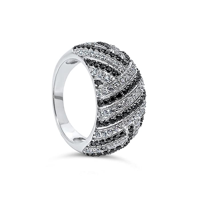925 Sterling Silver UK Hallmarked Lab Diamonds White Gold Plated Cluster Diamonique Ladies Ring Band L6YPnG