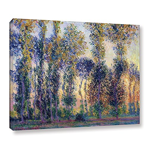 - ArtWall Poplars at Giverny at Sunrise Gallery Wrapped Canvas by Claude Monet, 36 by 48-Inch