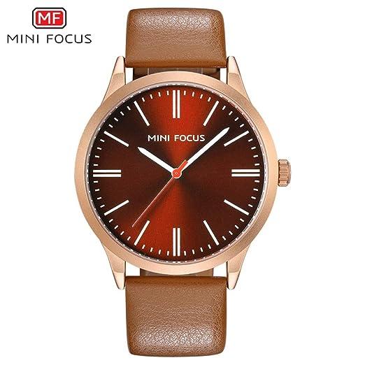 SJXIN Reloj Elegante Mini Focus/Reloj para Hombre Casual Fashion Belt Quartz Watch Relojes de Moda (Color : 4): Amazon.es: Relojes