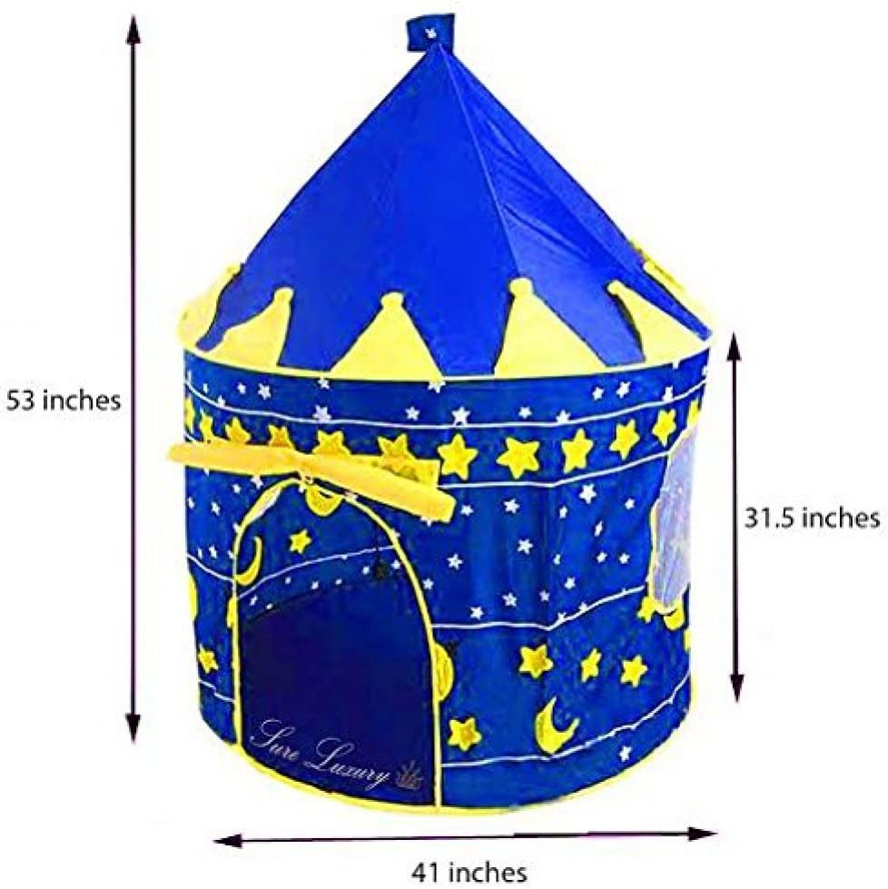 Children Indoor Play Tent Blue Castle Playhouse Tents for Kids Great Gift for Boys and Girls Sure Luxury by Sure Luxury