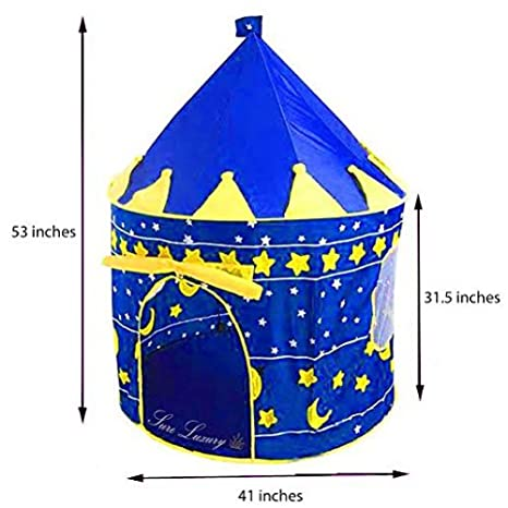 Children Indoor Play Tent Blue Castle Playhouse Tents for Kids Great Gift for Boys and Girls  sc 1 st  Amazon.com & Amazon.com: Children Indoor Play Tent Blue Castle Playhouse Tents ...
