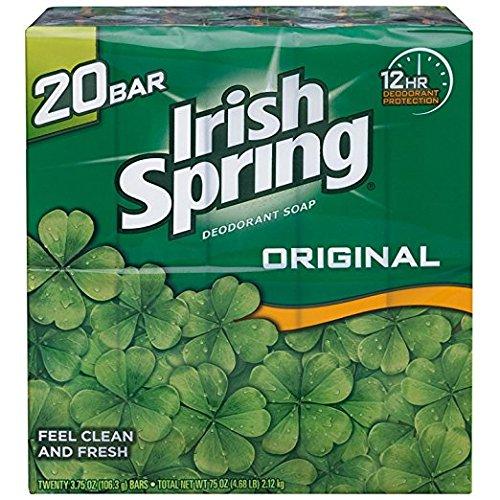 ポスター未亡人バルセロナIrish Spring アイリッシュスプリング オリジナル 固形石鹸 20個 海外直送