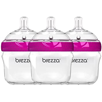 6216bb83e81 Amazon.com   Baby Brezza Two Piece Natural Baby Bottle with Lid ...