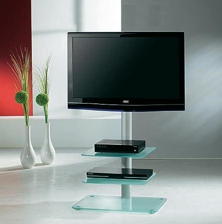 VCM Veneto - Mueble para TV con 2 repisas de Cristal translúcido para Dispositivos audiovisuales: Amazon.es: Hogar