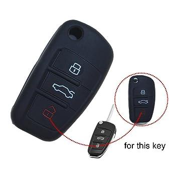 tuqiang® 1 x Negro Funda Carcasa de Key Llave Coche para ...