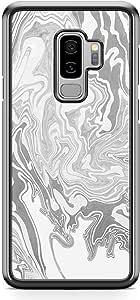 Samsung Galaxy S9 Plus Transparent Edge Phone Case Liquid Marble Phone Case Liquid Black White Marble Samsung S9 Plus Cover with see through edges