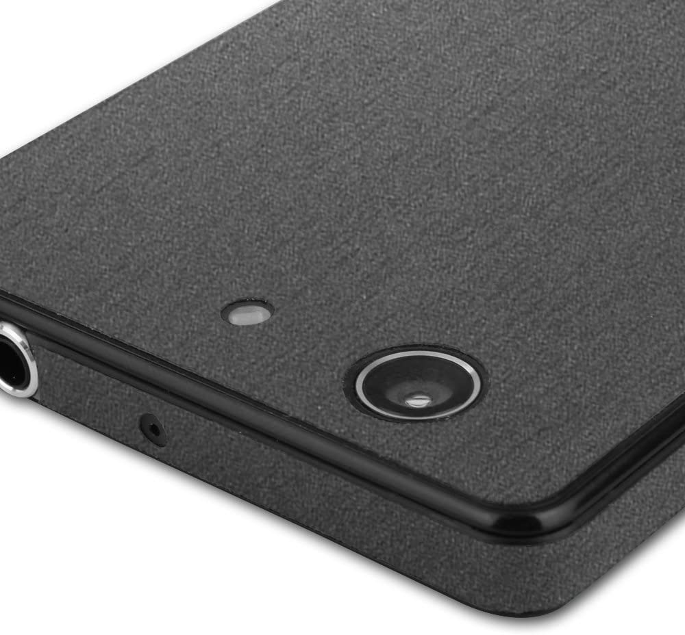 TechSkin with Anti-Bubble Clear Film Screen Protector Full Coverage Skinomi Brushed Steel Full Body Skin Compatible with Sony Xperia Z3 Compact