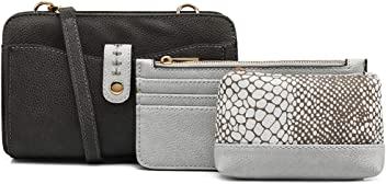 Clutch Purses for Women Purse Organizer Wallet | 3-in-1 Crossbody Handbag Set