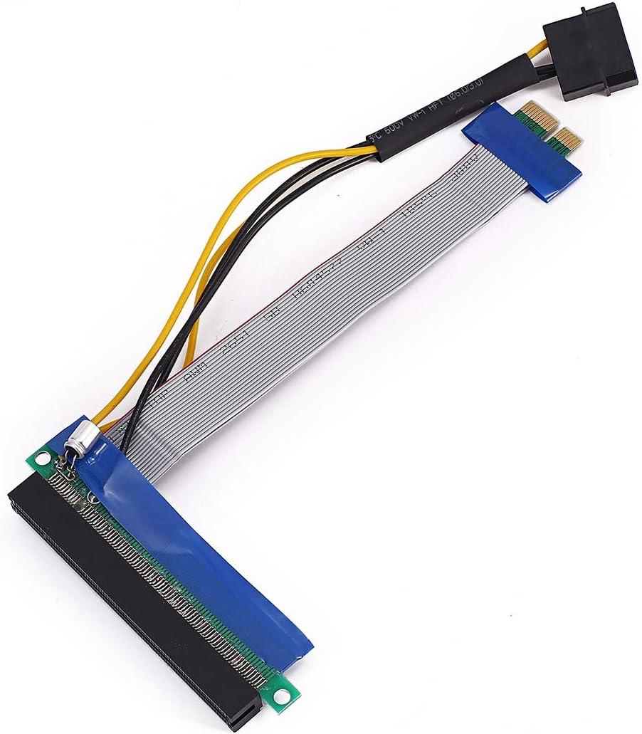 New PCI-Express PCI-E 16X Riser Card Ribbon Extender Extension 20cm Cable AD