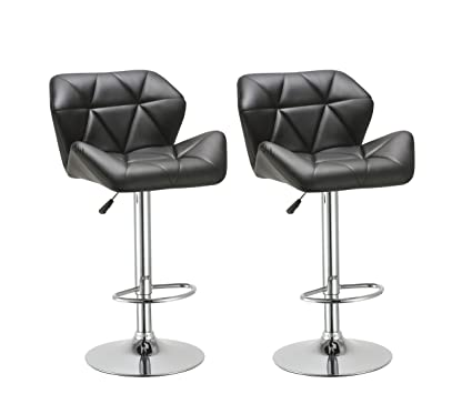 Amazon Com Duhome 2 Pcs Contemporary Synthetic Leather Bar Stools