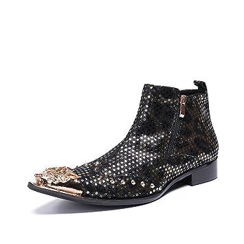 Zapatos de Hombre Novedad/Acentuado/Cuero Otoño/Invierno Botas de Moda/ Botines