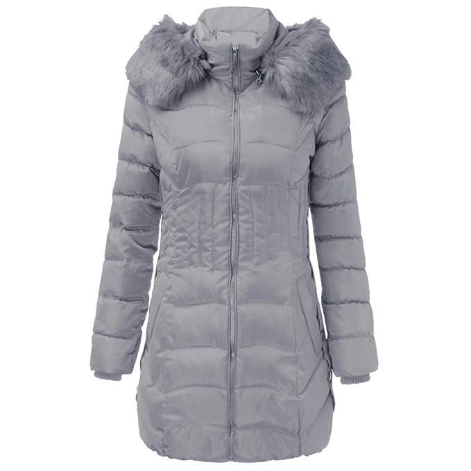 OHQ Giacca Invernale da Donna Lunga con Cappuccio in Cotone Caldo Cappotto  Sottile da Donna in Cashmere con Cappuccio  Amazon.it  Abbigliamento 5908052fd57