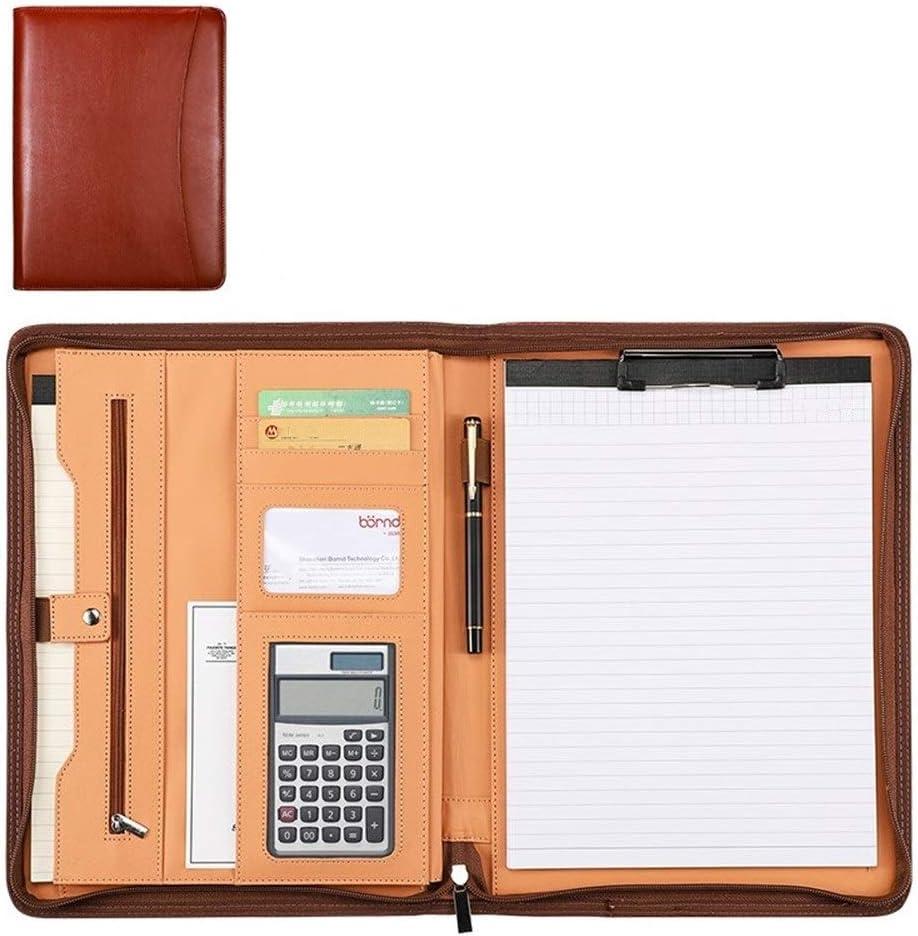 Yzibei Organizador de Carpetas de Documentos Carpeta De Cuero Carpeta De Negocios Reanudar La Combinación De Manager del Tablero De Escritura De Negocios Carpeta De Presentación para Tableta iPad