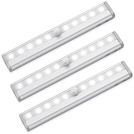 Inteligente con sensor de movimiento de madera / cajas de escalera y luces LED con banda