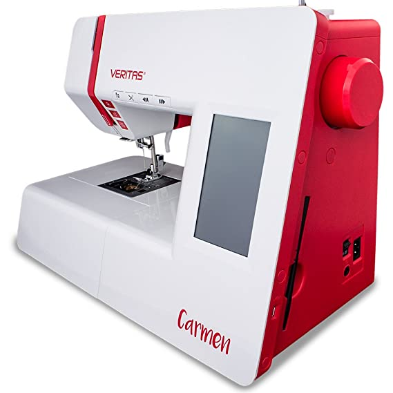 Veritas 1312 Carmen Máquina de coser, plástico y metal, color blanco/rojo, 44 x 21 x 29 cm: Amazon.es: Hogar