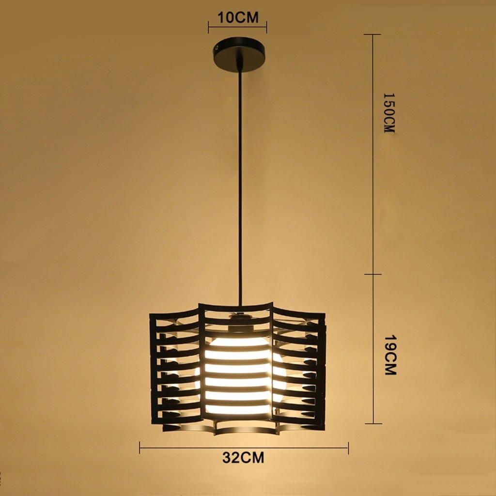 SX-BBF Kronleuchter, Persönlichkeit Industrielle Winde Bar Schlafzimmer Einfache Moderne Gänge Licht 266 (Farbe   Schwarz)
